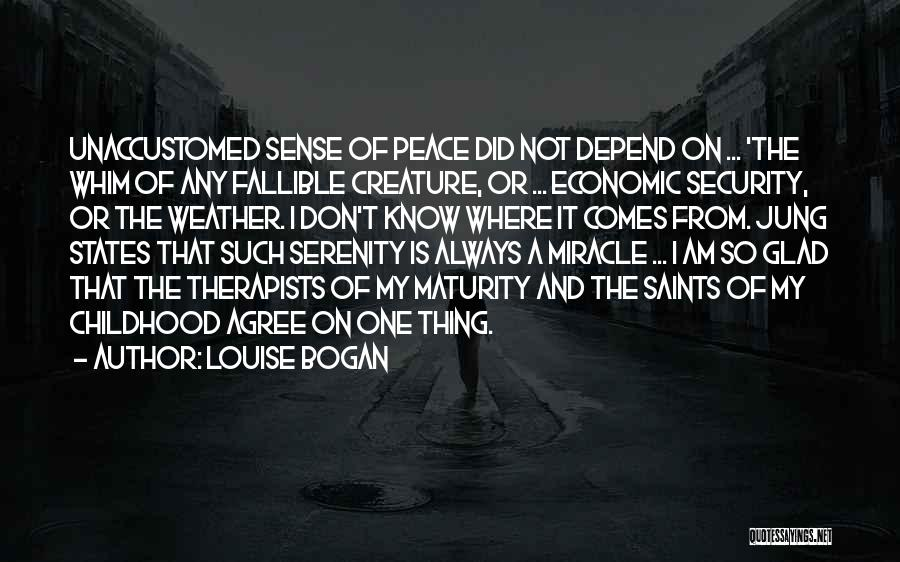 Maturity Comes Quotes By Louise Bogan