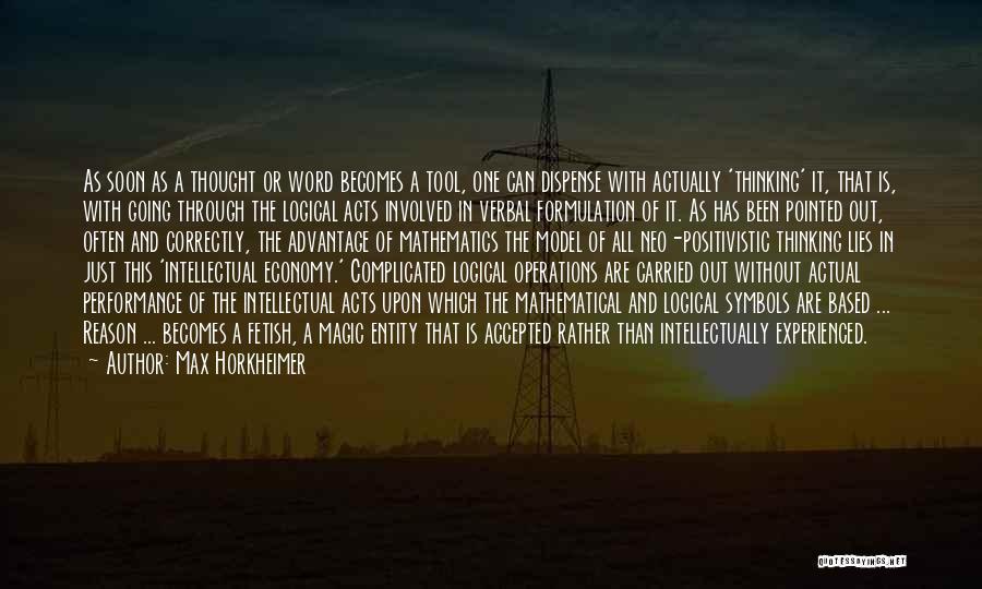 Max Horkheimer Quotes 1124076