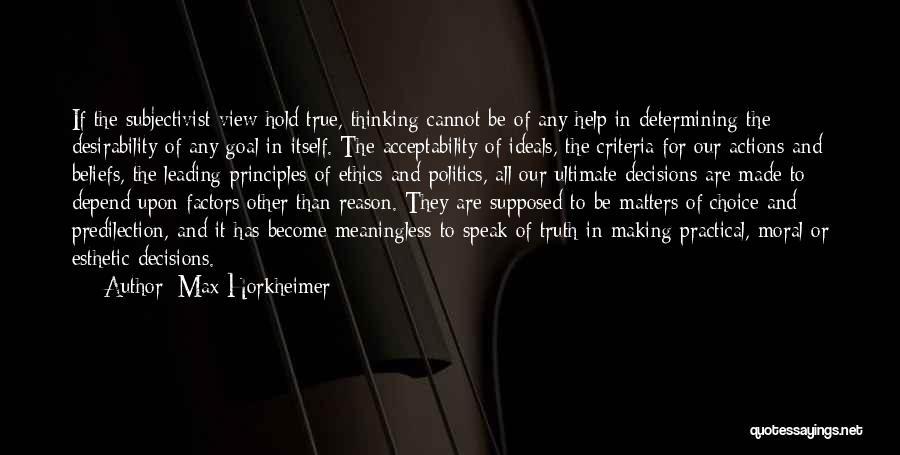 Max Horkheimer Quotes 1261324