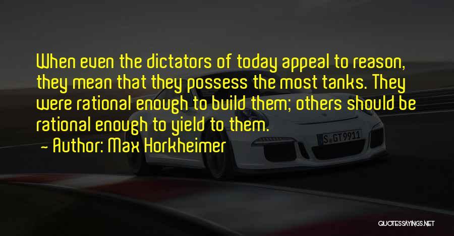 Max Horkheimer Quotes 260795
