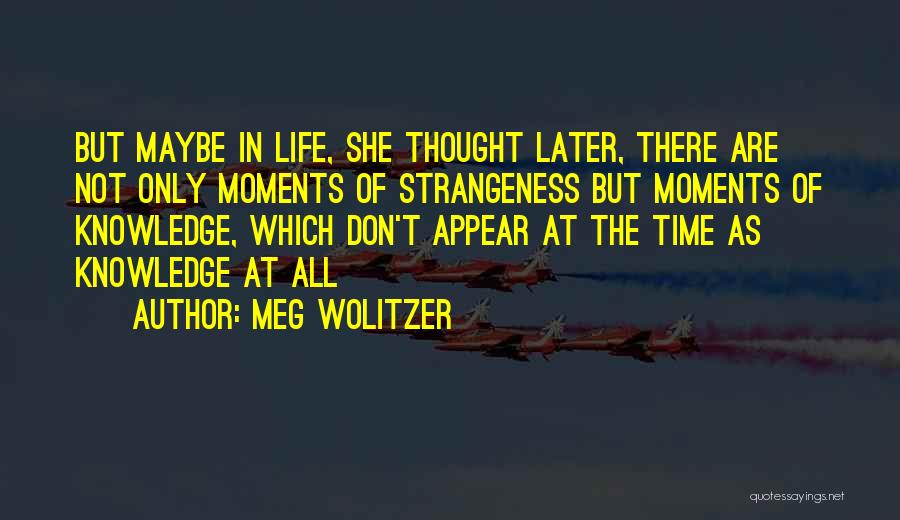 Maybe Later Quotes By Meg Wolitzer