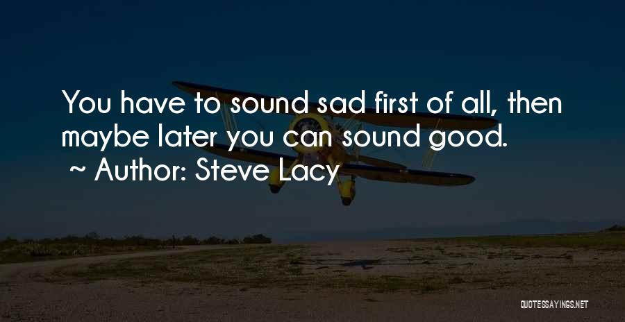 Maybe Later Quotes By Steve Lacy