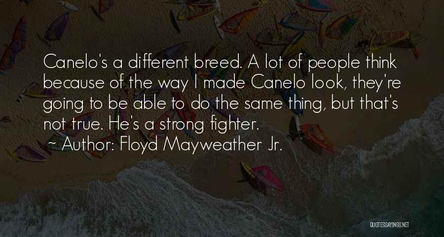Mayweather Vs Canelo Quotes By Floyd Mayweather Jr.