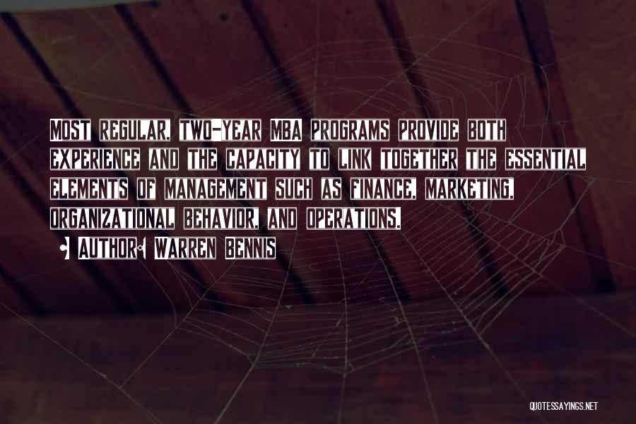 Mba Marketing Quotes By Warren Bennis