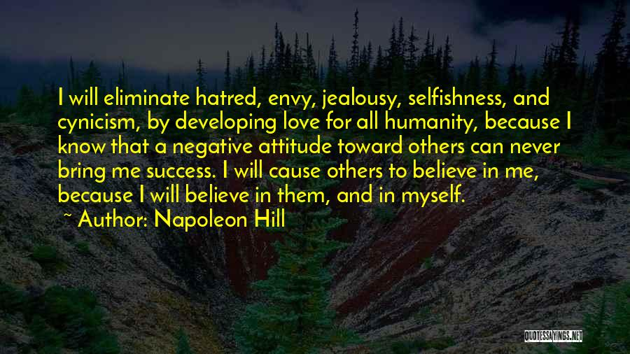 Me Myself Attitude Quotes By Napoleon Hill