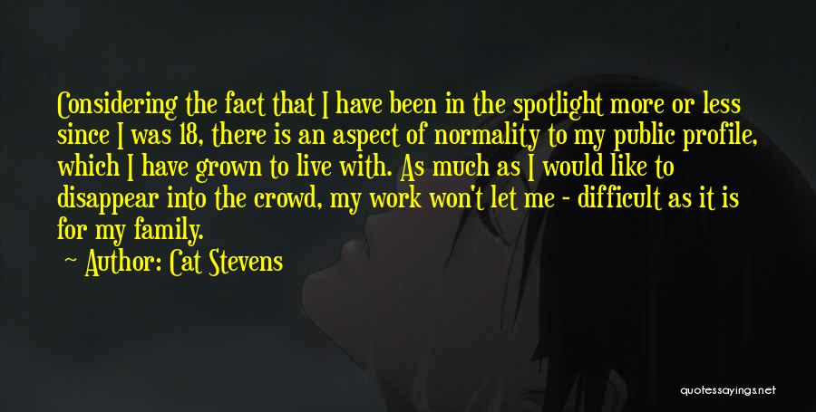 Me Profile Quotes By Cat Stevens