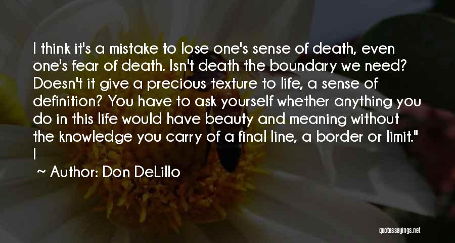 Meaning Of Life And Death Quotes By Don DeLillo