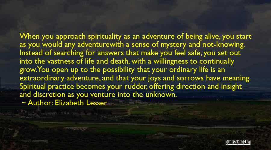 Meaning Of Life And Death Quotes By Elizabeth Lesser