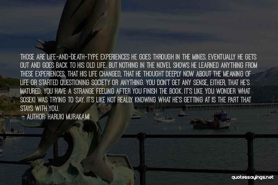 Meaning Of Life And Death Quotes By Haruki Murakami