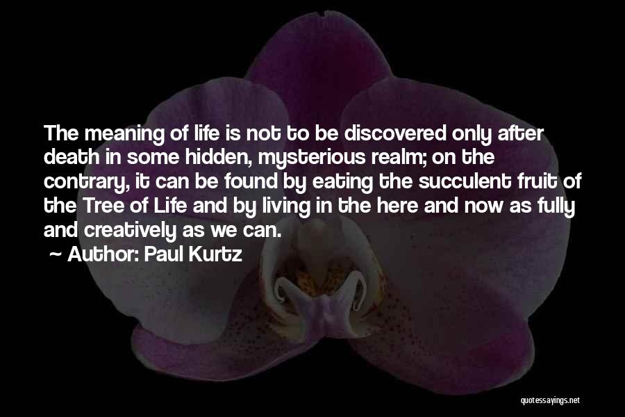 Meaning Of Life And Death Quotes By Paul Kurtz