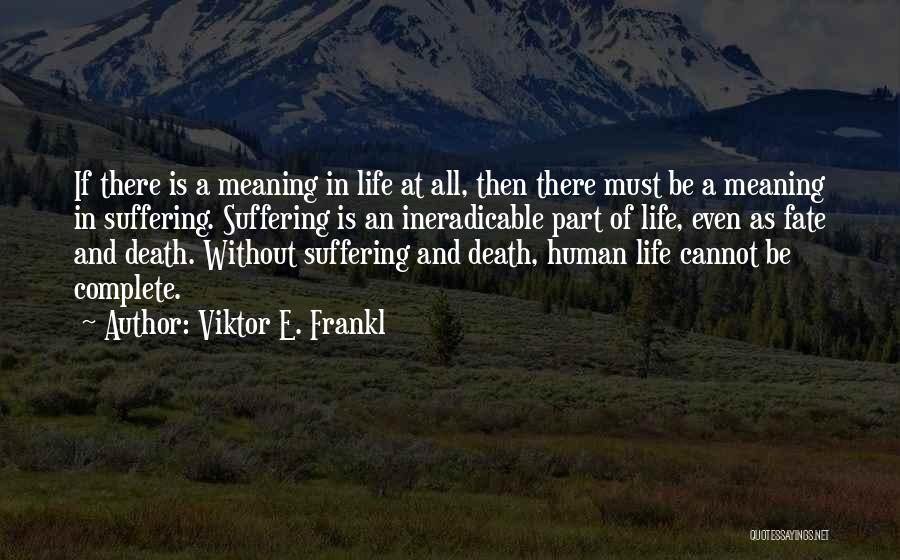 Meaning Of Life And Death Quotes By Viktor E. Frankl