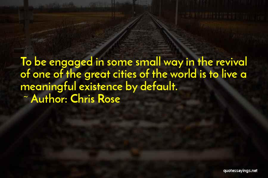 Meaningful Existence Quotes By Chris Rose