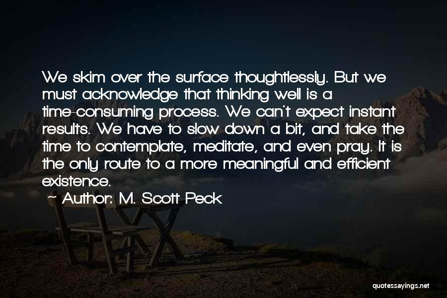 Meaningful Existence Quotes By M. Scott Peck