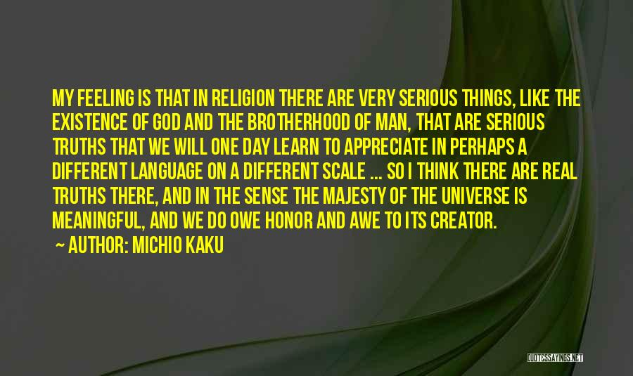 Meaningful Existence Quotes By Michio Kaku