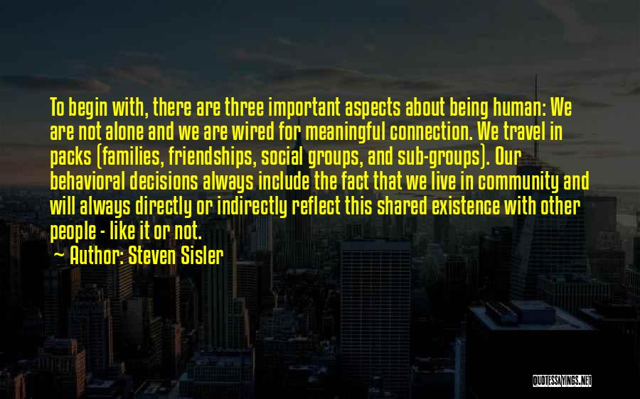 Meaningful Existence Quotes By Steven Sisler