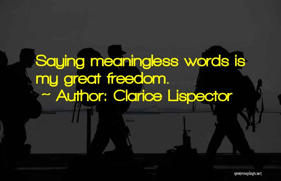 Meaningless Words Quotes By Clarice Lispector