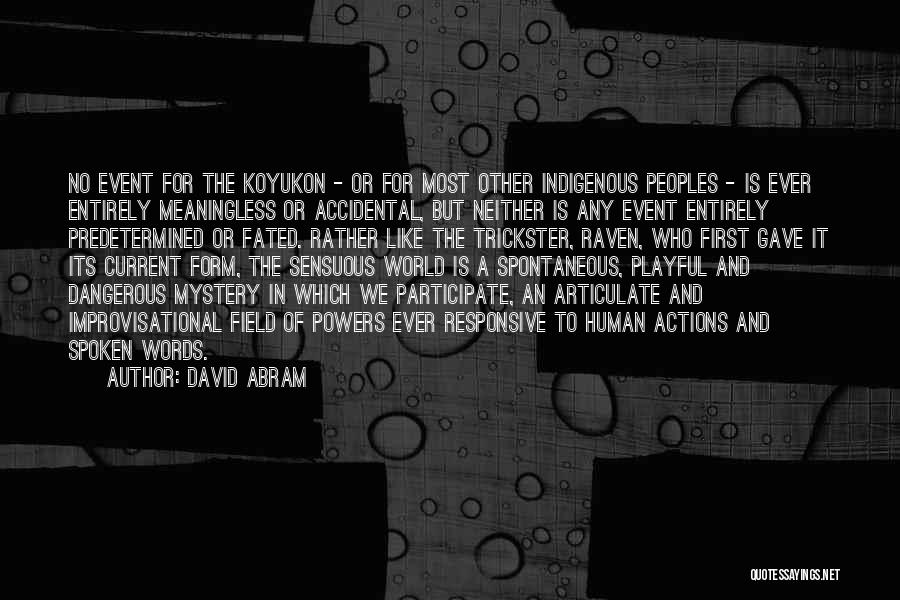 Meaningless Words Quotes By David Abram