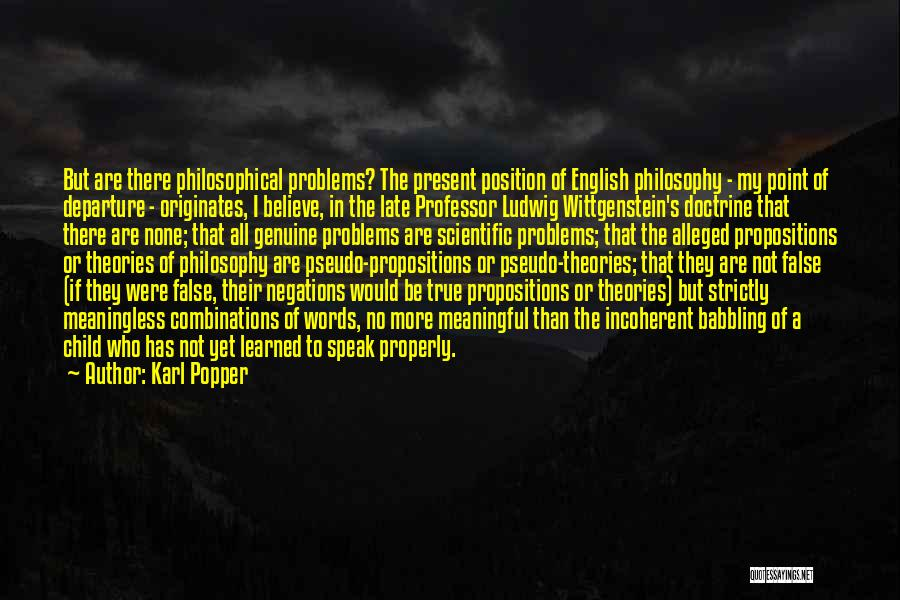 Meaningless Words Quotes By Karl Popper