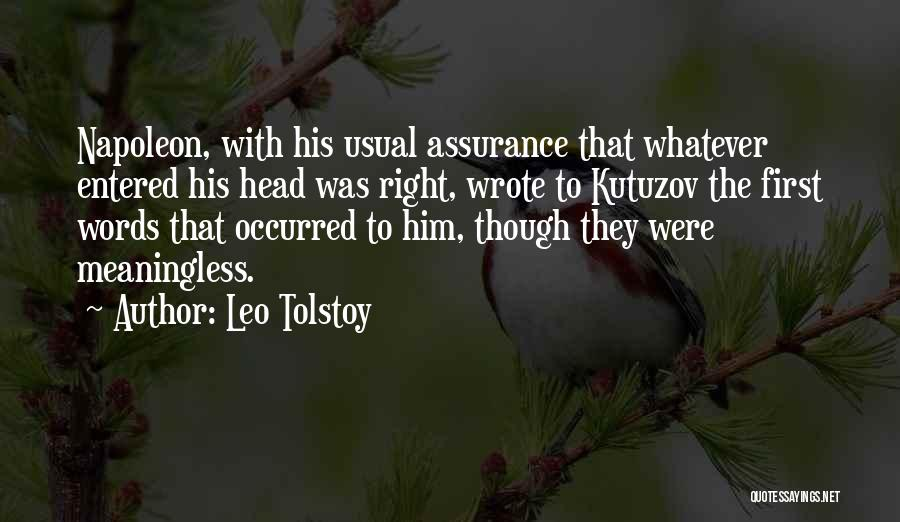 Meaningless Words Quotes By Leo Tolstoy