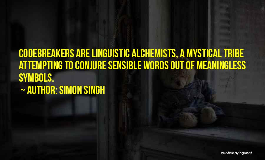 Meaningless Words Quotes By Simon Singh