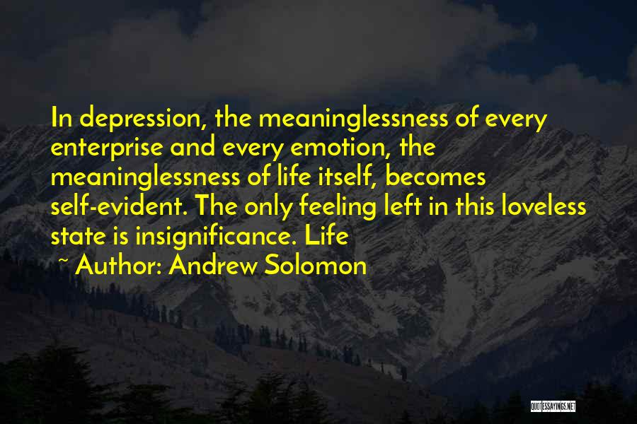 Meaninglessness Of Life Quotes By Andrew Solomon