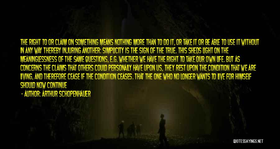 Meaninglessness Of Life Quotes By Arthur Schopenhauer