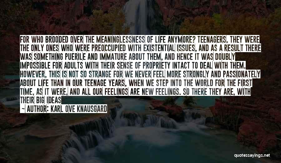 Meaninglessness Of Life Quotes By Karl Ove Knausgard