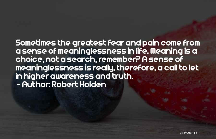 Meaninglessness Of Life Quotes By Robert Holden