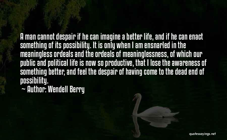 Meaninglessness Of Life Quotes By Wendell Berry