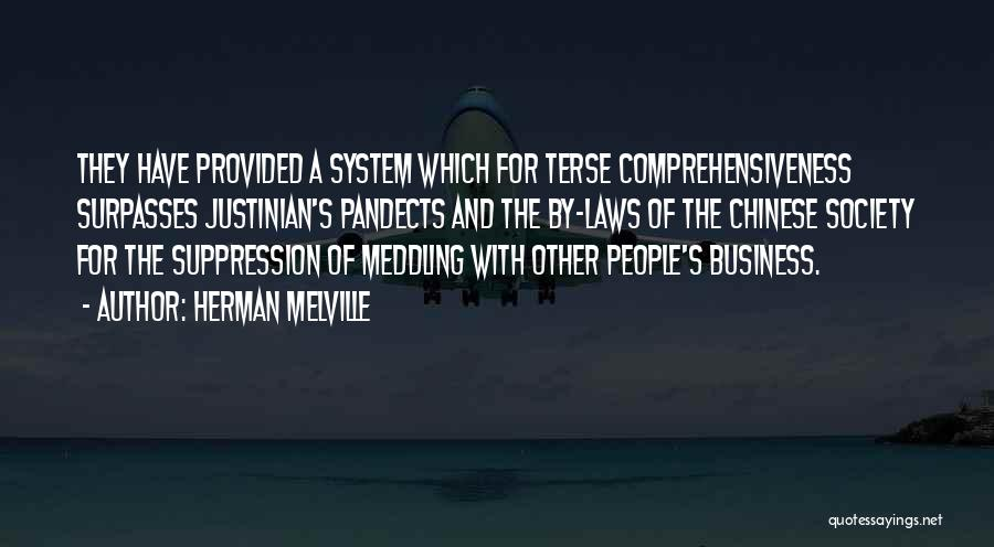 Meddling In Laws Quotes By Herman Melville