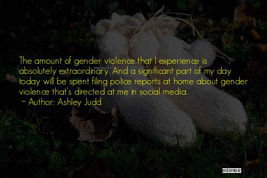 Media And Violence Quotes By Ashley Judd