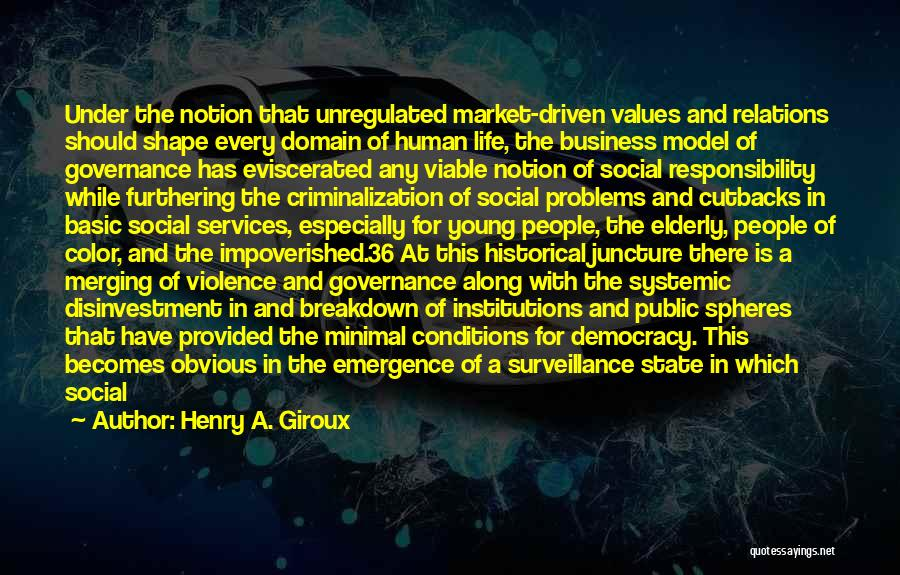 Media And Violence Quotes By Henry A. Giroux