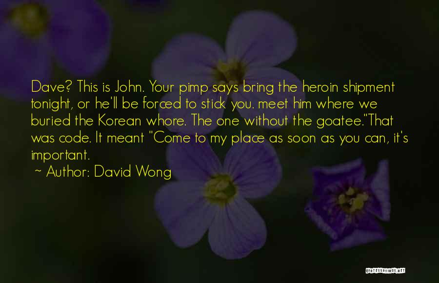 Meet Me Tonight Quotes By David Wong