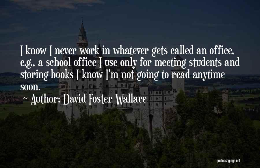 Meeting Soon Quotes By David Foster Wallace
