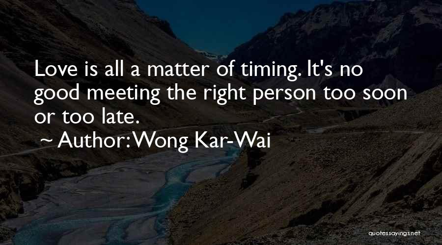 Meeting Soon Quotes By Wong Kar-Wai