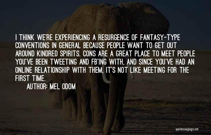 Meeting You For The First Time Quotes By Mel Odom