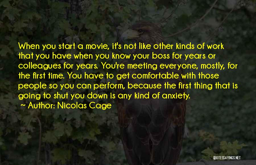 Meeting You For The First Time Quotes By Nicolas Cage