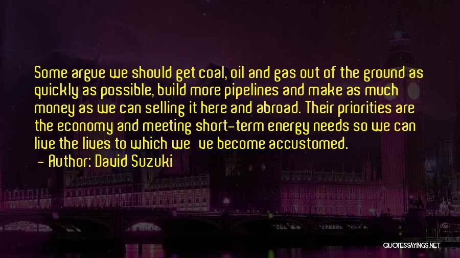 Meeting Your Needs Quotes By David Suzuki