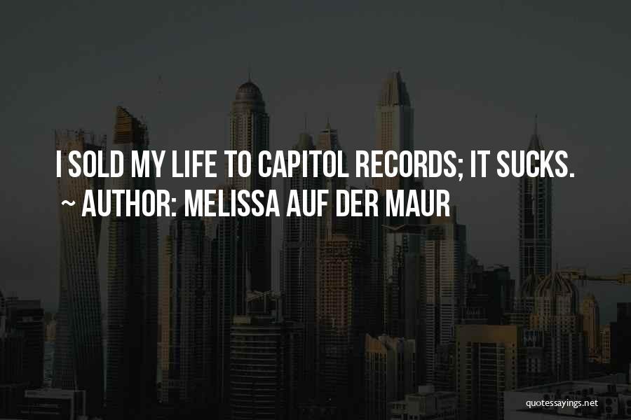 Melissa Cox Quotes By Melissa Auf Der Maur