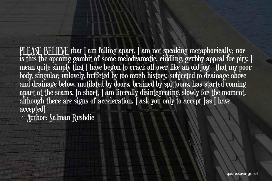 Melodramatic Quotes By Salman Rushdie
