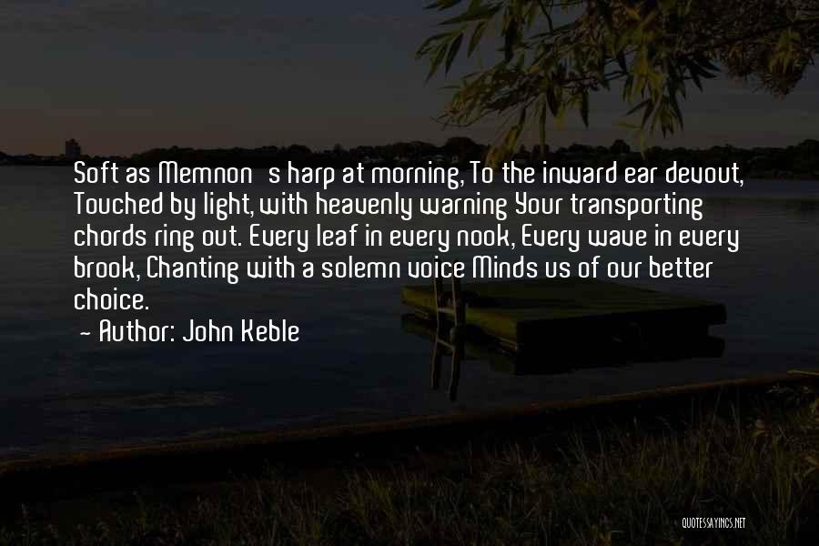 Memnon Quotes By John Keble