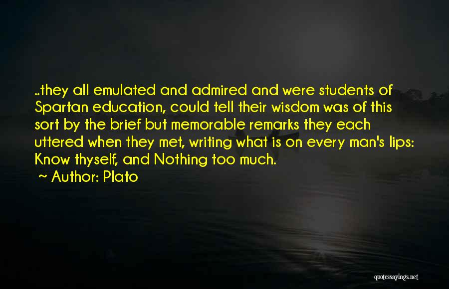 Memorable Quotes By Plato