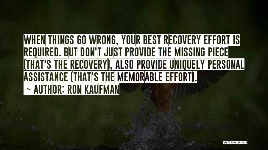 Memorable Quotes By Ron Kaufman