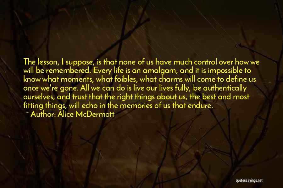 Memories Is All We Have Quotes By Alice McDermott
