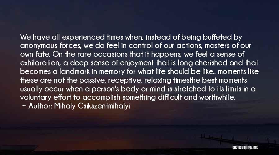 Memories Is All We Have Quotes By Mihaly Csikszentmihalyi