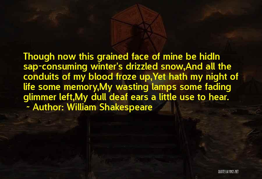Memories Not Fading Quotes By William Shakespeare