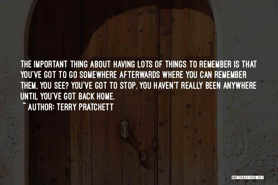 Memories Of Home Quotes By Terry Pratchett