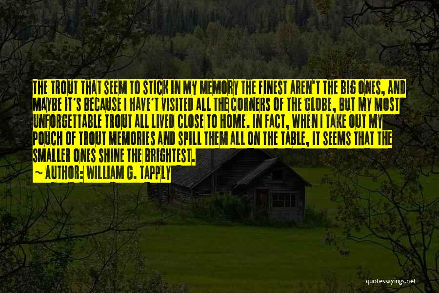 Memories Of Home Quotes By William G. Tapply