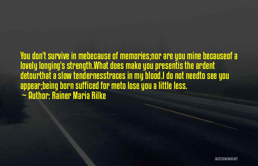 Memories When You Were Little Quotes By Rainer Maria Rilke