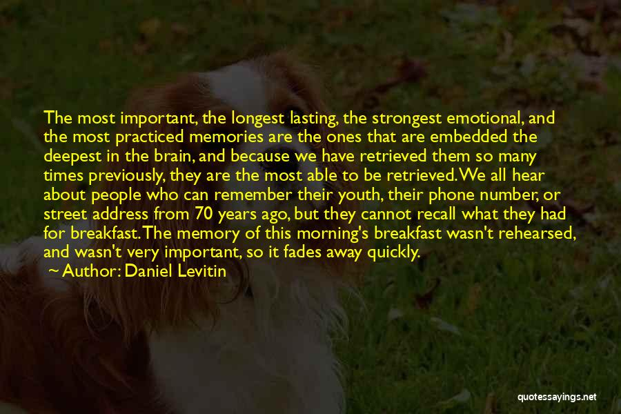 Memory And The Brain Quotes By Daniel Levitin